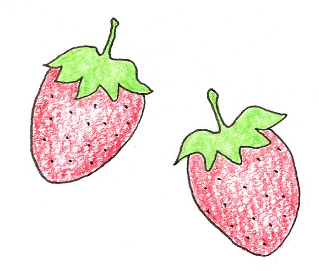 イチゴ(いちご・苺)をプランターで育てる4つのコツ_イチゴのイラスト